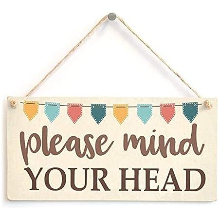 Cheyan Please Mind Your Head - Cartel de Advertencia de ...