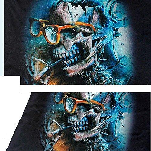 Sin Bazhahei En Ropa Blusa Estampada Camis Esmalte Con Chaleco Mujer Confort Camisetas Y 10 Black Top Cuello De Vendaje Transpirable Mangas V Estampado r0TPr
