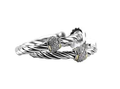 cb130b2308d14 Amazon.com  David YURMAN 18K Gold ST. Silver Metro Cable Classics ...