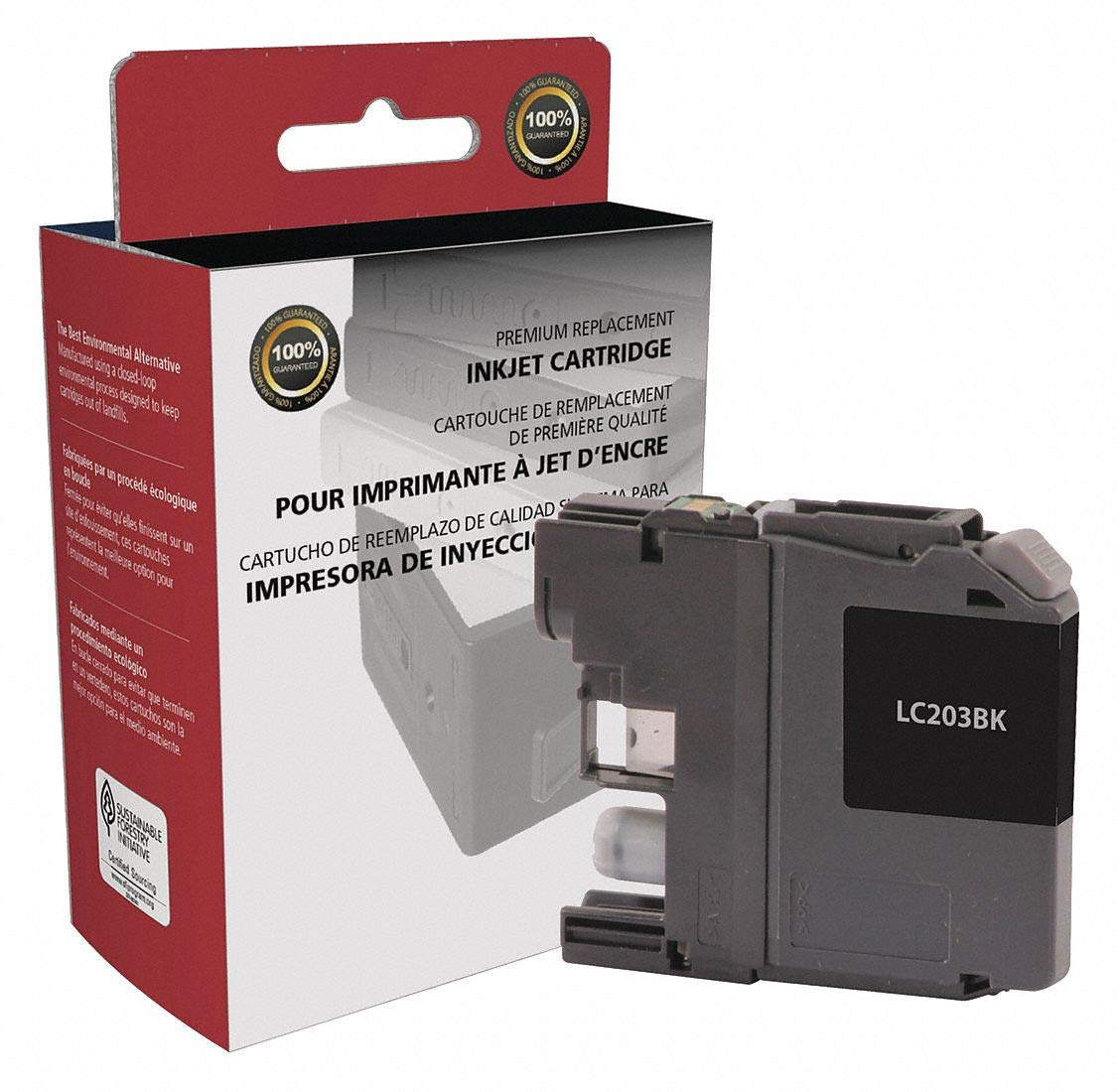 Amazon.com: Clover Brother Ink Cartridge, No. LC203, Black ...