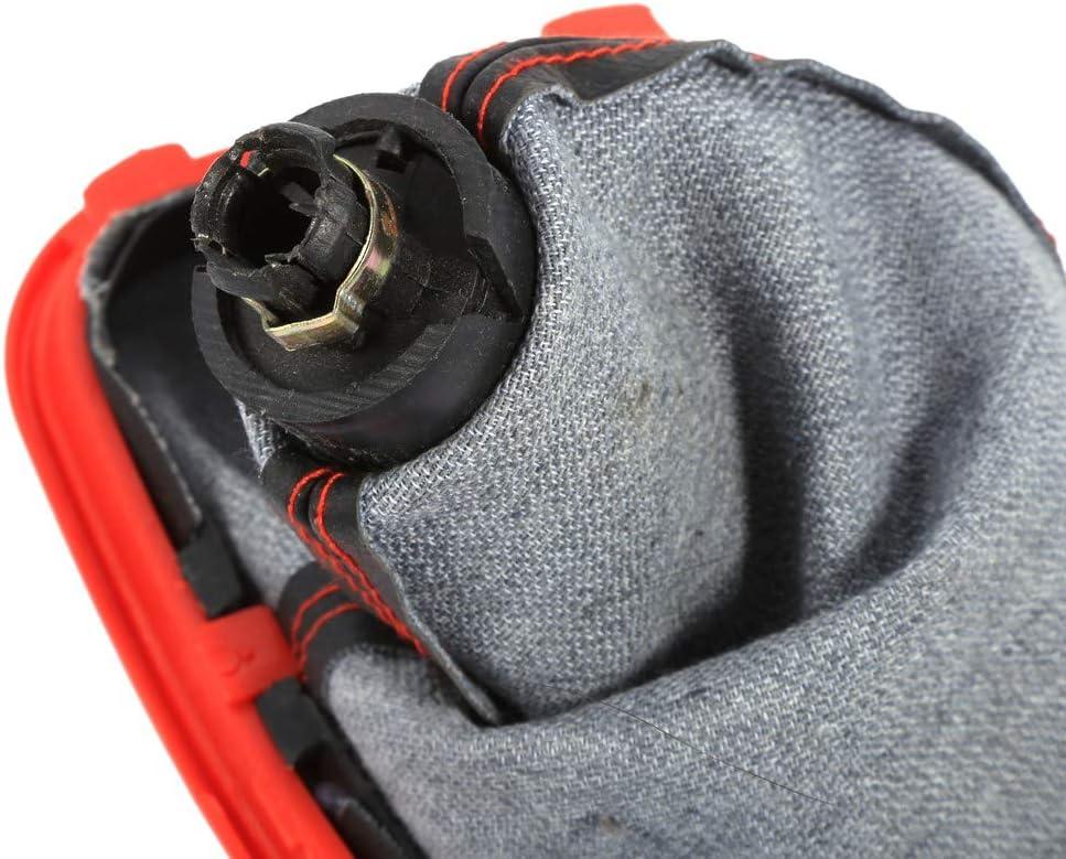 Qiilu 5 Speed Car Gear Shift Knob Gearstick Gaiter Boot Kit Fit for Mk4 G-olf J-etta Bora 1999 2000 2001 2002 2003 2004 Gear Shifter Boot Cover Replacement