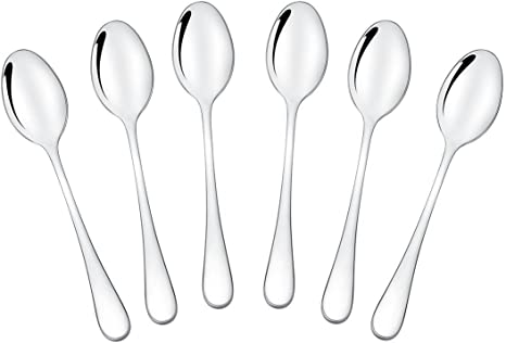 Amazon Com Songziming Demitasse Espresso Spoons Mini Coffee Spoon 18 10 Stainless Steel Small Spoons For Dessert Tea Set Of 6 Kitchen Dining
