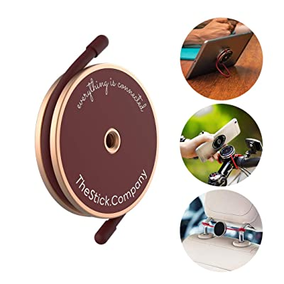 IMStick All-Purpose Phone Mount | Your Smartphone's Best Stay-Home Friend for Home Workout | Home Office | Home Entertainment | Perfect Phone Holder or Stand for Any Use - Gold