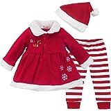 7a1cfdbfcc5f7 MSemis Costume Tenues Déguisement Mère Noël pour Bébé Fille Manteau Veste à Manches  Longues + Pantalon