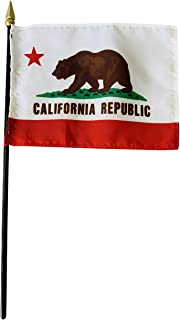 product image for 4x6 E-Gloss California Stick Flag - Flag Only - Qty 1 - Proudly Made in The USA