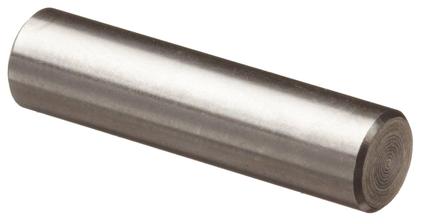 Pack of 10 +0.0000//-0.0002 Diameter Tolerance 7//32 Length 1//8 Nominal Diameter Plain Finish 303 Stainless Steel Dowel Pin