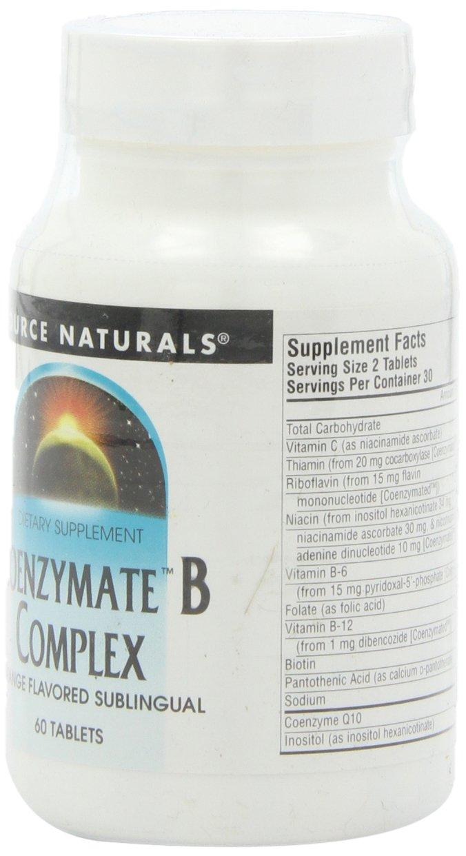 Source Naturals Coenzymate B Complex Orange, 60 Tablets: Amazon.es: Salud y cuidado personal