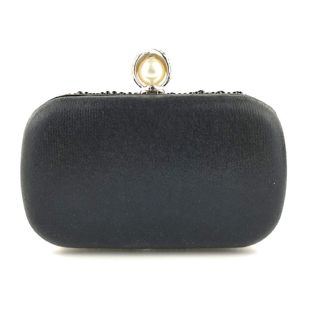 Amazon.com  Luxury Women Evening Bag Clutch Bags Beaded Rose Pearl Handbags  Wristlet Purse 3b7a12059bff
