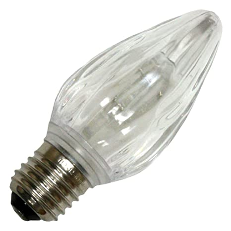 action lighting 22705 flame f15 medium screw base warm white led christmas light bulb