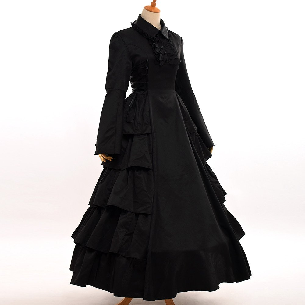 Steampunk Dresses | Women & Girl Costumes GRACEART Medieval Victorian Gothic Ball Gown Dress Cosutume $79.05 AT vintagedancer.com