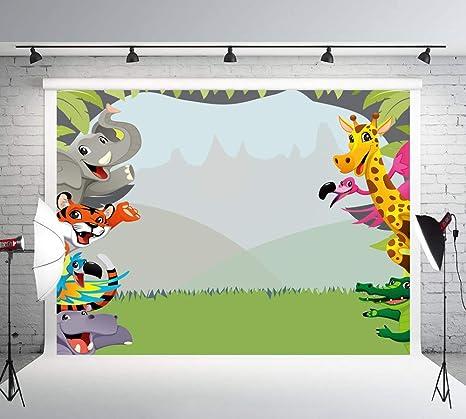 Muzi Selva Safari Fotografía Telones de fondo Animales temáticos Fiesta de cumpleaños Banner Foto Fondo Paisaje natural Dulce bebé Ducha Retrato Telón ...