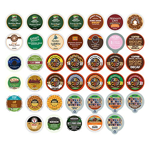 Decaf Coffee Single Serve Cups for the Keurig K Cups 1.0 and 2.0 Brewer, 40 (Pod Sampler)