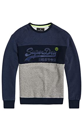 reputable site 61f91 1e553 Superdry Herren Pullover Vintage Logo Panel Crew: Amazon.de ...