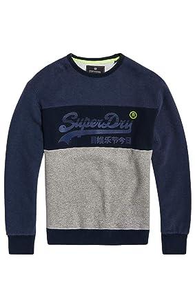 Modern und elegant in der Mode Outlet-Store schöner Stil Superdry Herren Pullover Vintage Logo Panel Crew: Amazon.de ...