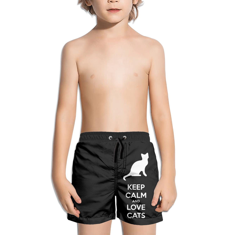 Ouxioaz Boys Swim Trunk Happy International cat Day 1 Beach Board Shorts