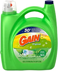 Gain Liquid Detergent with Original Scent, 146 Loads, 225-Ounce