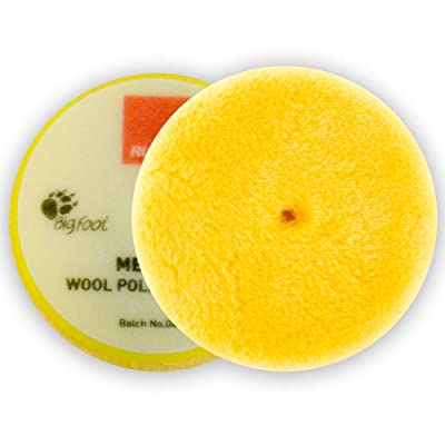 "Rupes Medium Yellow Wool Pad 145mm/ 5.75"" (Single): Automotive"