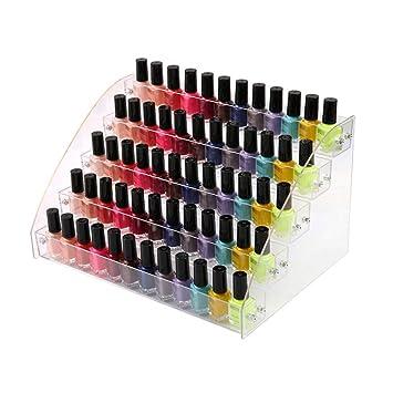 Amazon.com: Soporte de acrílico para uñas, 5 capas, soporte ...