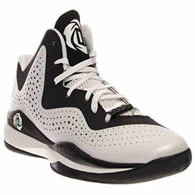7fdd93fd2f215 adidas D Rose 773 III Mens Basketball Shoe 7.5 White-Black