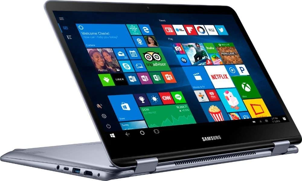 "Samsung Notebook 7 Spin 13.3"" 2-in-1 2TB SSD Extreme (Fast 8th gen Intel Core Processor with Turbo Boost to 3.40GHz, 8 GB RAM, 2 TB SSD, 13.3"" Touchscreen, Win 10) PC Laptop Computer NP730QAA"