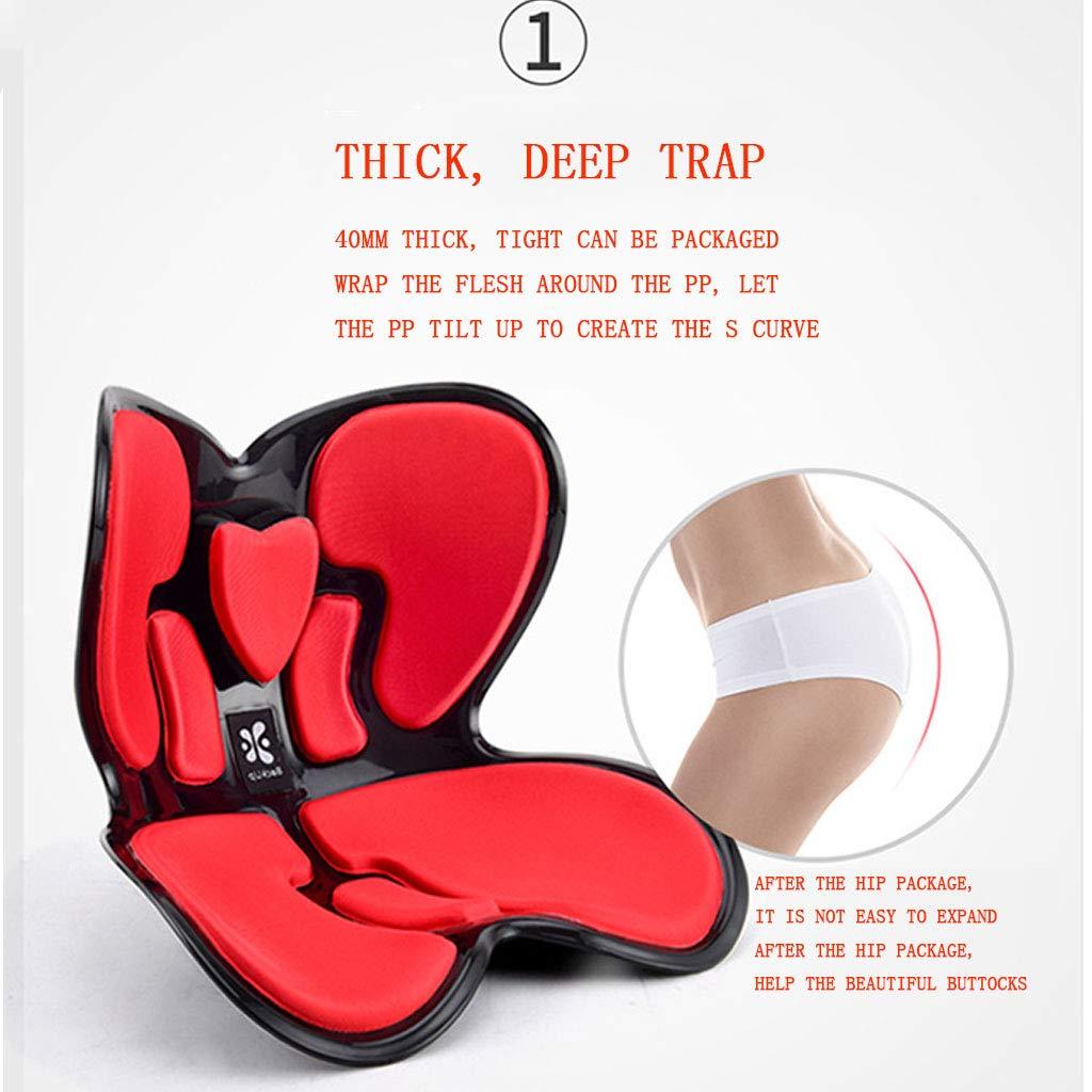 Orthopedic Cushion Pillow Memory Foam//Japan Anti-Tank Back Spine Lumbar Support Cushion Adult Student Office Health Correction Sitting Chair Cushion,Blue