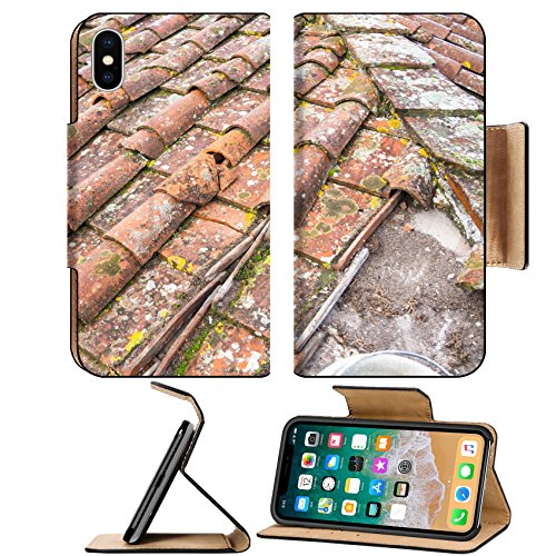 Tuscan Roof Tile (MSD Premium Apple iPhone X Flip Pu Leather Wallet Case Tuscan clay roof tiles Image ID 24755031)