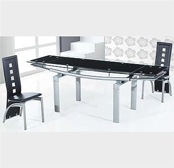 Sararreda Table Extensible Design En Verre Trempe Pour Le