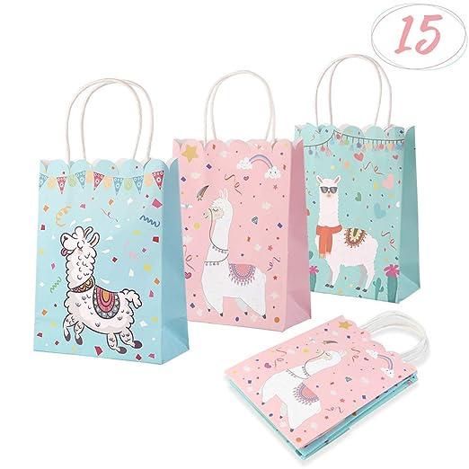 AerWo 15 bolsas de regalo para fiesta de llama, bolsa de ...