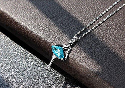 Bailarina Zircon cúbico para mujeres niña/ballet niña ángel collar establece mujeres joyería Set Azul de joyas sin níquel j001-s
