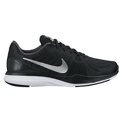 176f9655a407a2 Nike Women s in-Season 7 Training Shoe Black Metallic Silver Anthracite Size  9. 5 M US  Amazon.in  Shoes   Handbags