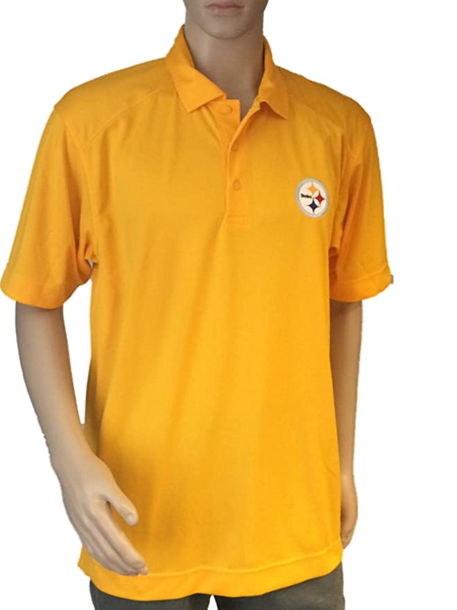 Amazon.com   Cutter   Buck Pittsburgh Steelers Gold DryTec Performance Polo  Shirt (S)   Sports Fan Polo Shirts   Sports   Outdoors 80f857d55
