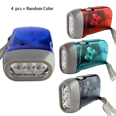 d891b964f4c 4 Pack Hand Crank Flashlight