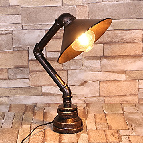 Cheap  Frideko Vintage Industrial Iron Water Pipes Table Lamp for Bedside Desk -..