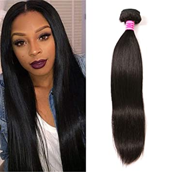 Brazilian Virgin Hair Straight 1 Bundle 100 Unprocessed Brazilian Straight Human Hair Weave Bundles Weaving Natural Black Color 10 100g