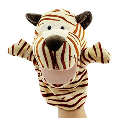 Isuper Marionetas de Mano,Peluche de Mano,Juquete Felpa de Mano de Dedo Diseño de Animal Lindo Peluche para bebé(Tigre): Juguetes y juegos