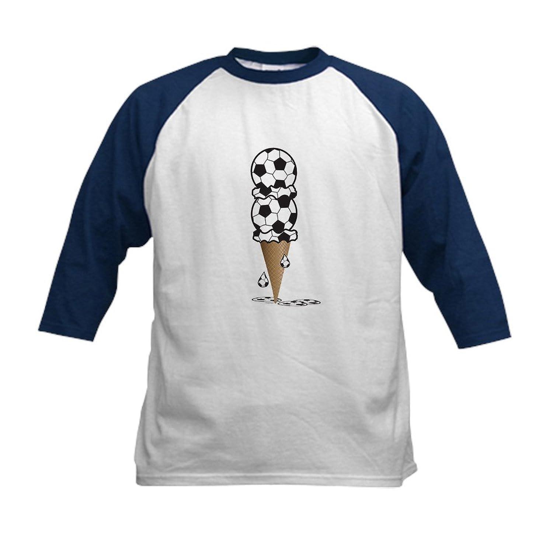 Truly Teague Kids Baseball JerseyサッカーIceクリームCone B06XRWCZJ3ネイビーとホワイト S