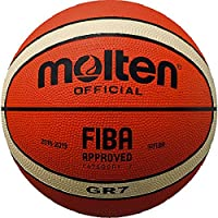 molten Basketball, Orange/Ivory, 7, BGR7-OI
