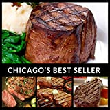 Black Angus (8) Steak Combination - Chicagos Finest Filet Mignon, Boneless Strip, Sirloin, Ribeye - Chicago Steak Company