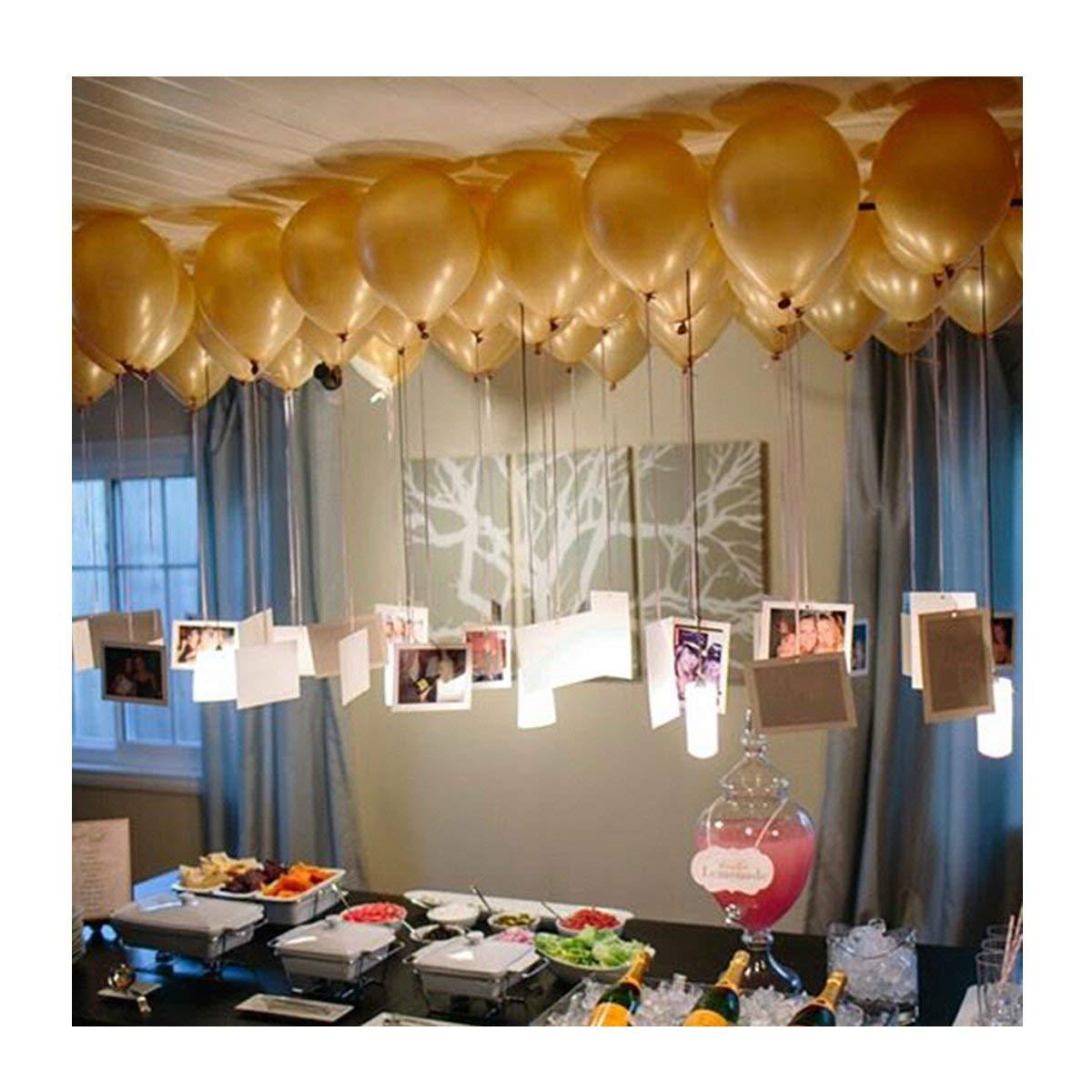 Black Huayao 100PCS Shiny Pearl 12inch Latex Balloon Thicken For Birthday Wedding Party Decoration