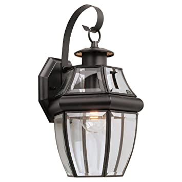 sea gull lighting singlelight outdoor lancaster wall lantern clear beveled - Sea Gull Lighting