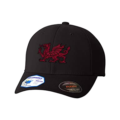 Amazon.com: Custom Flexfit Baseball Cap Wales Flag Dragon Seal Embroidery Country Polyester: Clothing