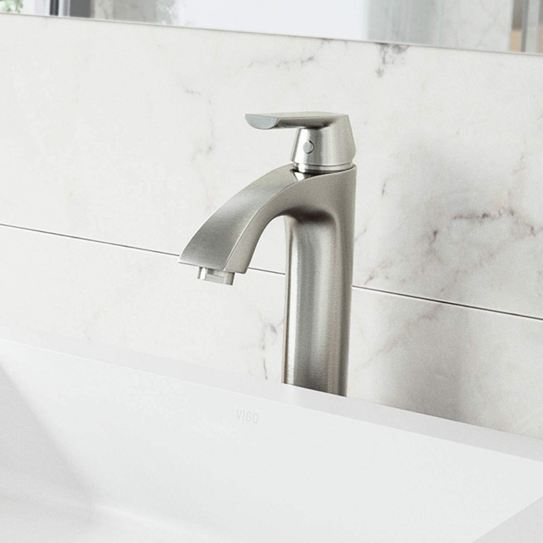 Vigo Vg03013bn Linus Contemporary Single Handle Brass Bathroom