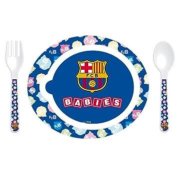 F.C. Barcelona - Pack de 3 piezas vajilla microondas, 22 x ...