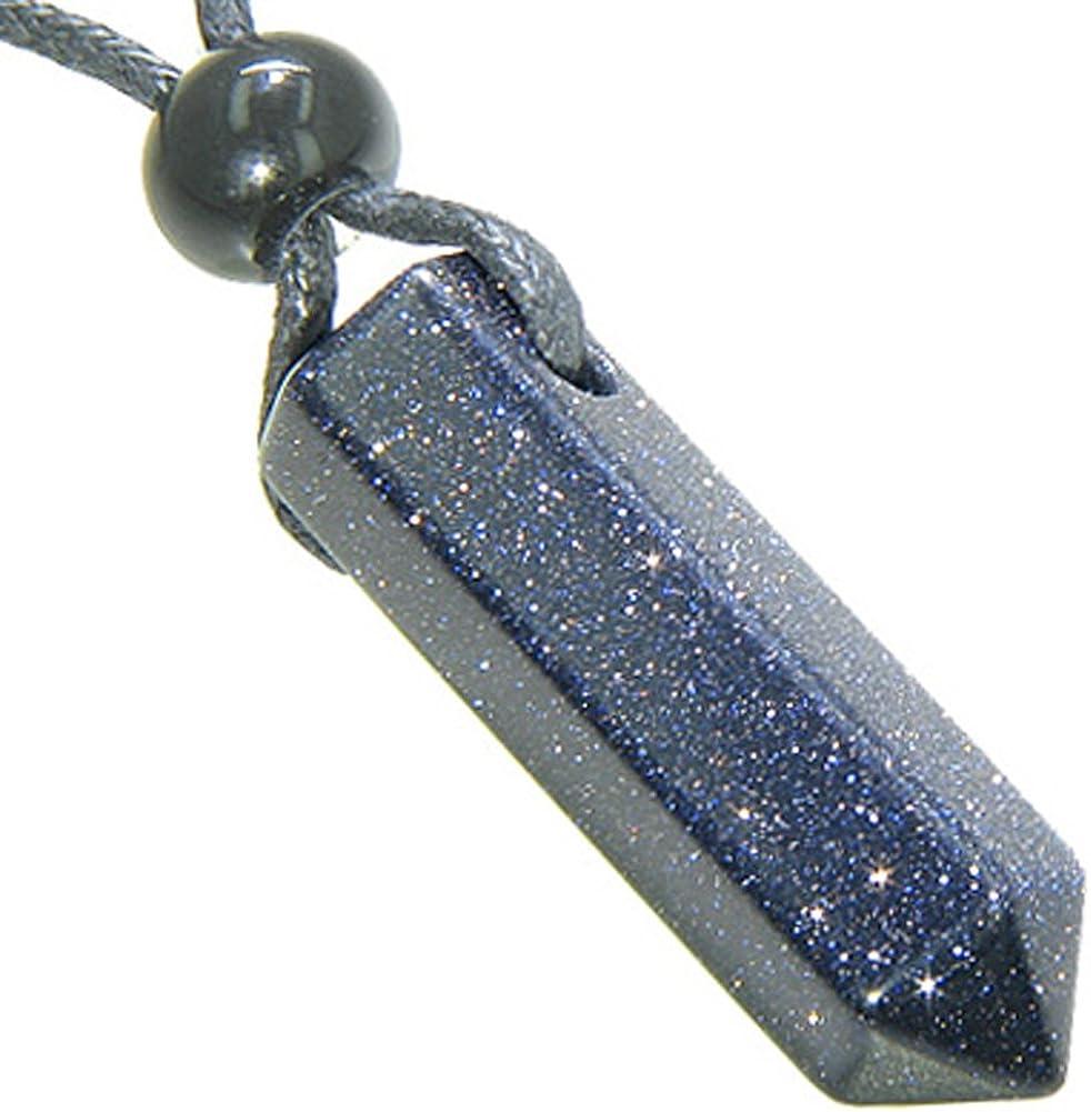 Crystal Joys Blue Agate with Quartz Rectangle Pendant