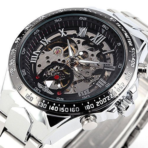 BEST SELLING Russian Noble Sports Men's Automatic Mechanical Watch Metal Skeleton + BOX (Best Russian Made Watches)