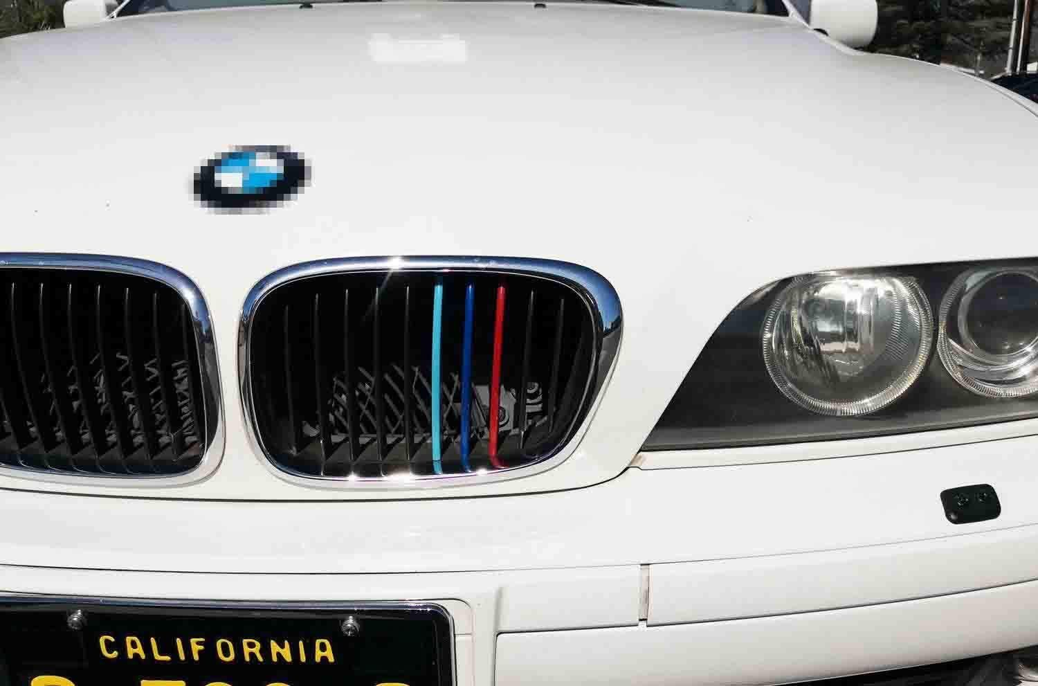 11 Beams iJDMTOY Exact Fit //////M-Colored Grille Insert Trims Compatible With 2004-2010 BMW E60 5 Series 525i 528i 530i 535i 540i 545i 550i M5 Front Center Kidney Grilles