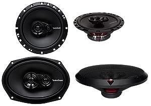 "Rockford Fosgate R169X3 6x9 260W 3 Way + R165X3 6.5"" 3 Way Car Speakers Coaxial"