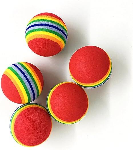 Ecloud Shop® 5 Juguete Gato Pelota de Colores tampones de Bolas de ...