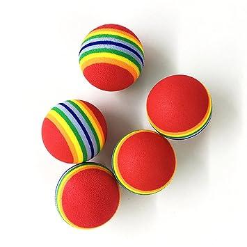 Ecloud Shop® 10 Pieces X 5 Juguete Gato Pelota de Colores tampones ...