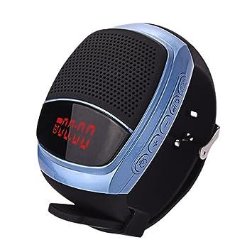 ZZG Reloj Bluetooth Reloj Inteligente Pulsera de Sonido Portátil Reloj Pulsera Tipo Subwoofer (Color : B90 Blue): Amazon.es: Electrónica